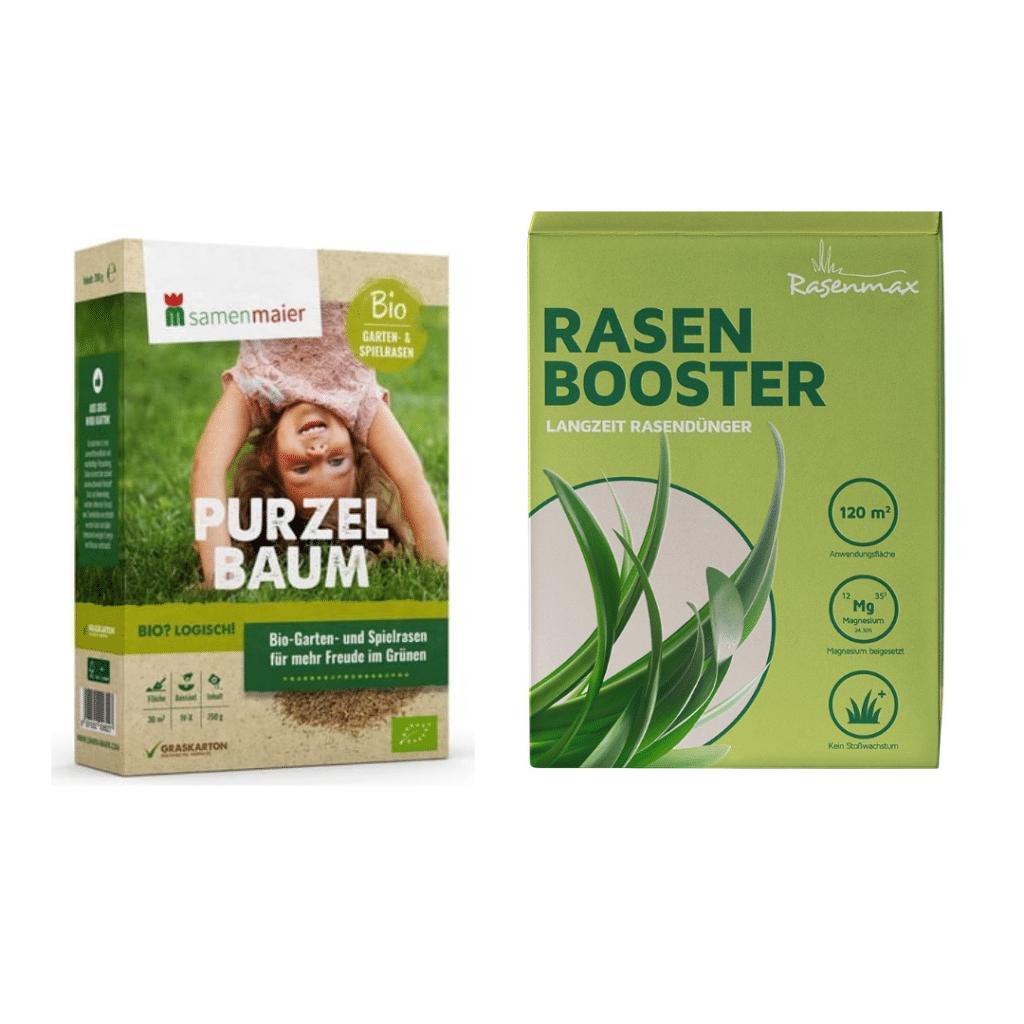 Rasenmax Rasenpaket Kombi aus Rasendünger und Rasensamen